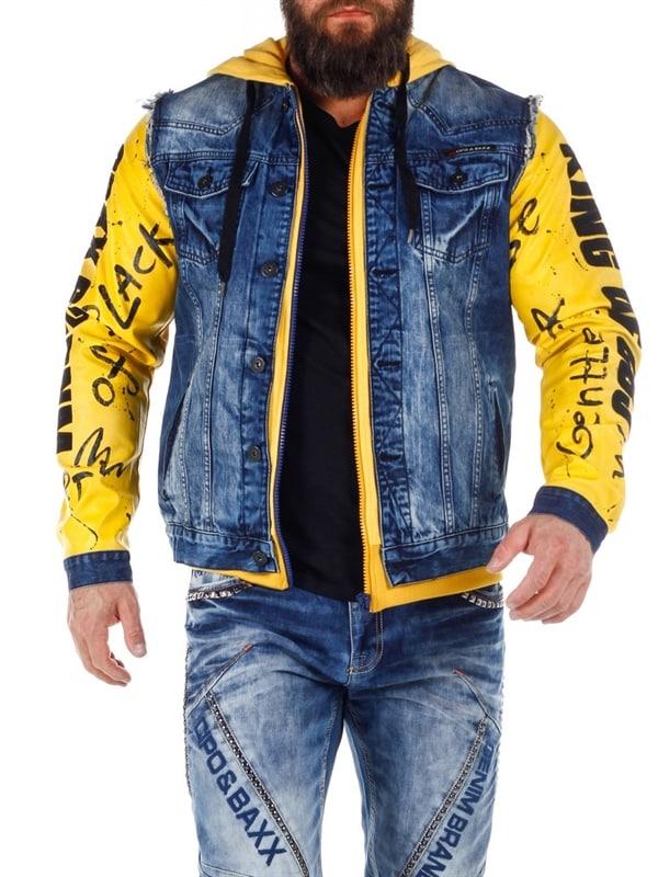 Bronx Cipo & Baxx Jeansjakke Denim BlueGul RockDenim