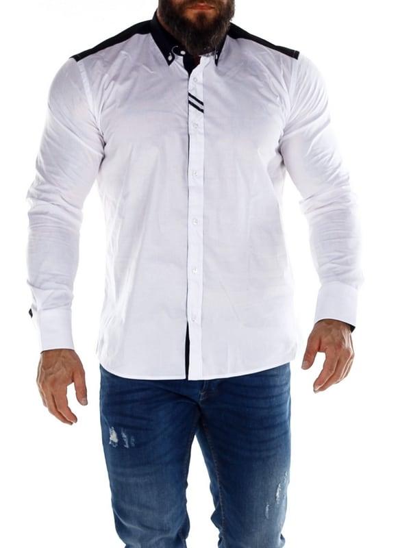 Cubano Langermet Skjorte Hvit RockDenim