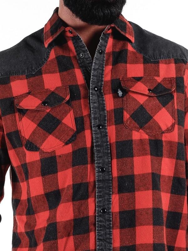 Lumberjack Skjorte Rødsvart RockDenim