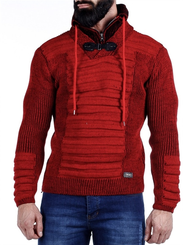 64528891 Miglia strikkegenser i rødt fra merket Rusty Neal