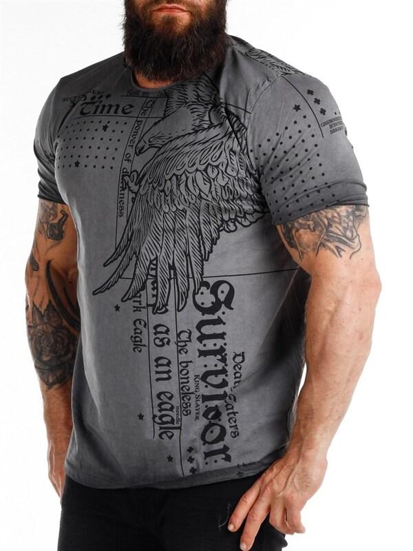 Secret Eagle T skjorte Mørkegrå RockDenim