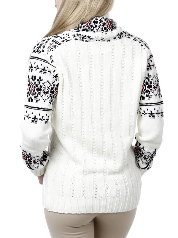 genser med snøring i halsen
