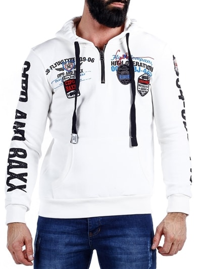9425227a Millenium hettegenser hoodie i hvit farge fra merket Cipo & Baxx