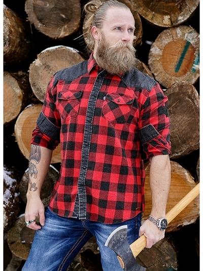 c9d06bf3 Lumberjack Skjorte - Rød/svart