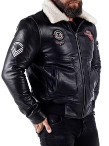 RD Top Gun Pilot Skinnjakke Svart RockDenim