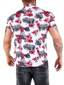 Honolulu Kortermet Skjorte Hvit RockDenim