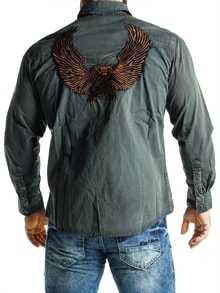 08d6088b Crown Eagle Skjorte - Grønn - RockDenim