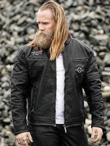 756b4440 Warrant Affliction Skinnjakke - Svart - RockDenim