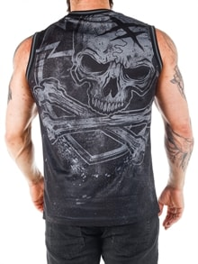 E-BADGE VEST-black grey (6)
