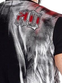 RD Red Flames T skjorte Svart RockDenim