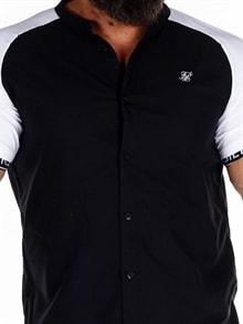 kortermet skjorte med glidelås