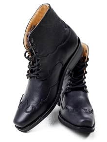 Henderson Leather Boots - Black (6)