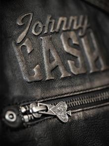 Johnny Cash Skinnjakke Dirty Black RockDenim
